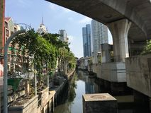 摩天大楼在Silom 免版税库存照片