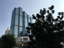 摩天大楼在Silom 库存照片