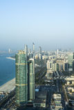 摩天大楼地平线阿布扎比 图库摄影