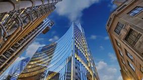 摩天大楼城市行动图表动画背景 库存例证