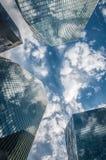 摩天大楼城市 免版税库存照片