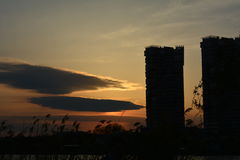 摩天大楼日落二 图库摄影