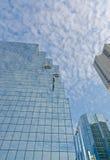 摩天大楼有窗式洗衣机的街市渥太华 库存图片