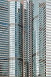 摩天大楼特写镜头在香港 免版税库存图片