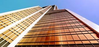 摩天大楼的一个现代明亮的塔的照片 免版税库存图片