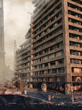 摩天大楼的废墟 免版税库存照片