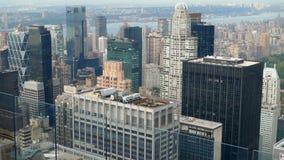 从摩天大楼的美国视图在纽约 图库摄影