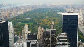 从摩天大楼的美国视图在纽约 免版税图库摄影