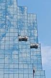 摩天大楼的街市渥太华窗式洗衣机 库存照片