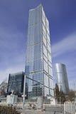 摩天大楼的玻璃表面,北京,中国 库存图片