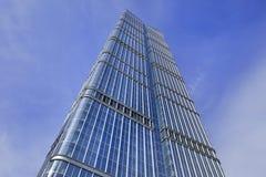 摩天大楼的玻璃表面,北京,中国 免版税库存图片