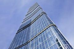 摩天大楼的玻璃表面,北京,中国 库存照片