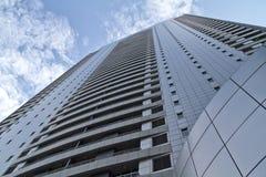 摩天大楼看法外部在城市马尼拉,马卡蒂市, Philipp 库存图片