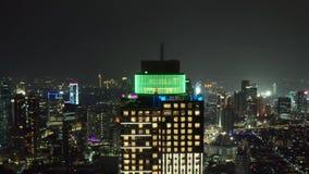 摩天大楼看法有美好的夜光的 股票视频
