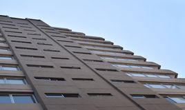 摩天大楼离开为天空的,商业大厦 免版税库存图片