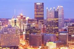摩天大楼细节中心商务区的在匹兹堡 库存图片