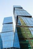 摩天大楼莫斯科国际商业中心莫斯科城市 图库摄影