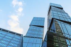 摩天大楼莫斯科国际商业中心莫斯科城市 库存照片