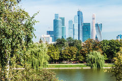 摩天大楼莫斯科国际商业中心莫斯科城市 免版税库存图片