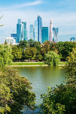 摩天大楼莫斯科国际商业中心莫斯科城市 库存图片