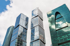 摩天大楼莫斯科国际商业中心莫斯科 免版税库存照片