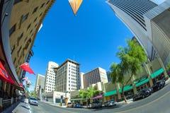 摩天大楼街市菲尼斯, 免版税库存图片