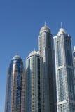摩天大楼迪拜小游艇船坞 免版税图库摄影