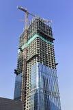摩天大楼建设中在北京市中心,中国 免版税库存照片