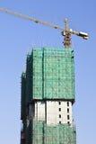 摩天大楼建设中在北京市中心,中国 免版税图库摄影