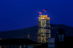 摩天大楼delal区域在都灵 免版税库存图片