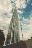摩天大楼Torre Telefonica在巴塞罗那 免版税库存照片