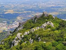 摩尔人城堡在辛特拉 图库摄影