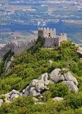 摩尔人城堡在辛特拉 免版税库存图片