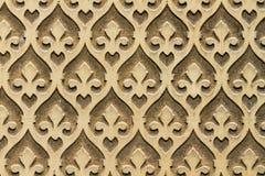 摩尔人花卉墙壁装饰 免版税库存照片
