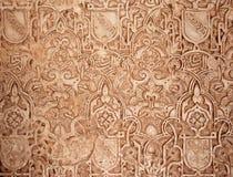 摩尔人阿尔汉布拉的雕刻 免版税库存图片