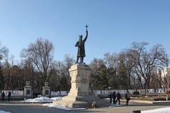 摩尔多瓦基希纳乌纪念碑斯蒂芬cel母马 免版税图库摄影