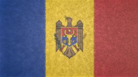 摩尔多瓦旗子的原始的3D图象  库存图片