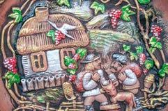 摩尔多瓦的房子在黏土村庄  免版税库存图片