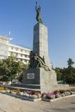 摩尔多瓦,基希纳乌, Komsomol纪念碑 免版税库存照片