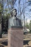 摩尔多瓦,基希纳乌 经典之作胡同在公园 米哈伊・爱明内斯库 库存图片