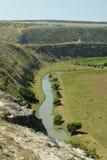摩尔多瓦, Orhei Vechi/Orheiul Vechi自然reservatio共和国 图库摄影