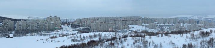 摩尔曼斯克都市风景 免版税库存照片