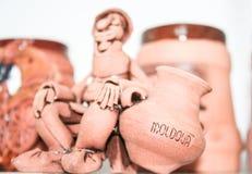 摩尔达维亚人和投手装饰小雕象  库存图片