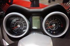 仪表板摩托车 免版税库存图片