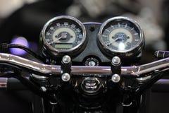 仪表板摩托车 免版税库存照片