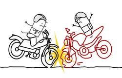 摩托车事故 向量例证