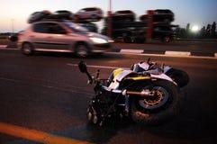 摩托车事故 免版税库存图片