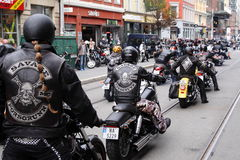 摩托车俱乐部抗议  奥斯陆 免版税库存照片