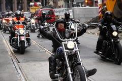 摩托车俱乐部抗议  奥斯陆 库存照片