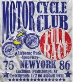 摩托车俱乐部种族海报人图表传染媒介设计 库存照片